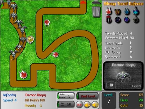 Bitmap Turret Defense Tower Defense Game