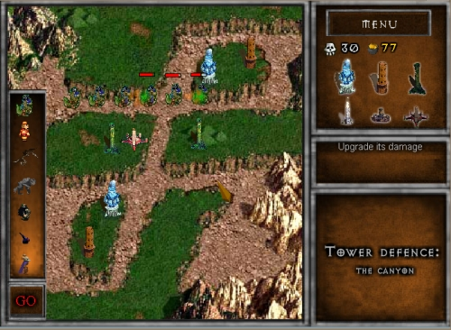 The Canyon Tower Defense Game