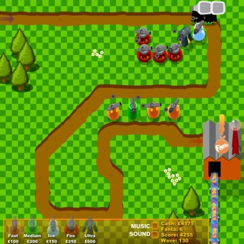 Fanta Factory Defender Tower Defense Game
