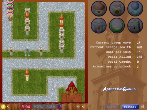 Front Line Tower Defense Game