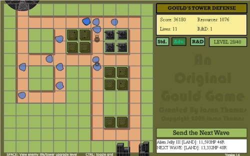 Gould's Tower Defense Game