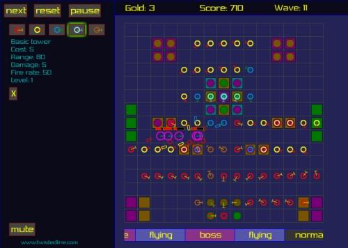 Grid Tower Defense Game