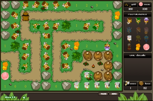 Jungle Hunting Tower Defense Game