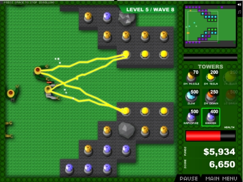 Minifig Zombie TD Tower Defense Game