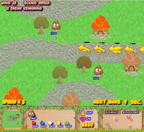Mushroom Revolution Tower Defense Game