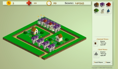 Pixelshocks Tower Defense Game