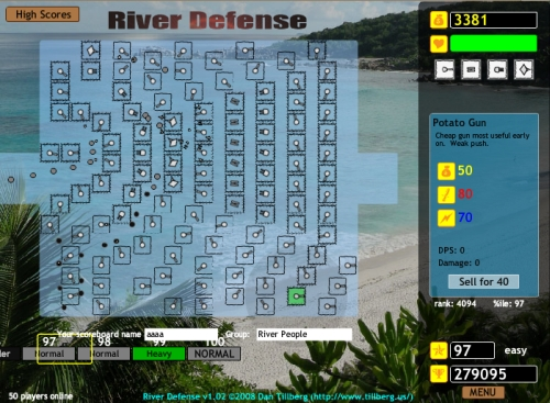 River Defense Tower Defense Game