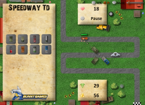 Speedway TD Tower Defense Game